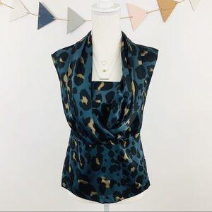 Ann Taylor Sleeveless Leopard Print Top